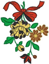 Blooms on Ribbon embroidery design
