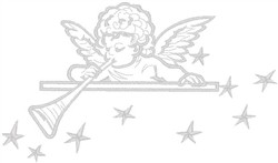 Angel with Horn embroidery design