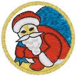 Santa with Bag embroidery design