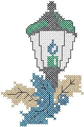 Lightpost with Holly embroidery design
