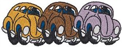 VW Beetles embroidery design
