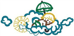 Child On Cloud embroidery design