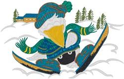 Wild Skier embroidery design