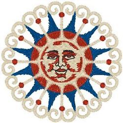 Art of Sun embroidery design