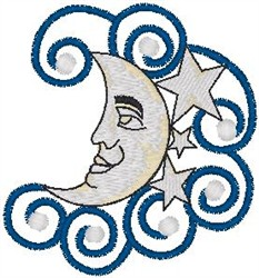 Moon Art embroidery design