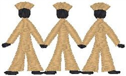 3 sailors embroidery design