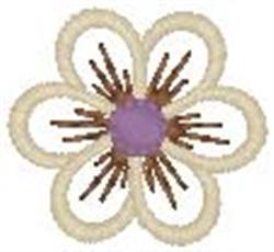 Single Blossom embroidery design