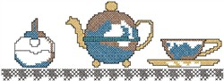 Coffee Cup and Pot embroidery design