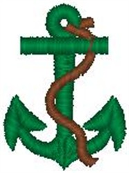Anchor & Rope embroidery design