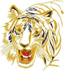Tiger Attack embroidery design