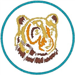 Bear in Outline embroidery design