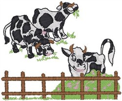 Cows Grazing embroidery design