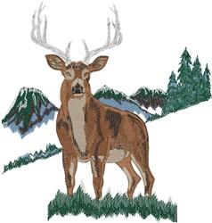 Buck Scene embroidery design