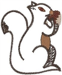 Squirrel Eating embroidery design