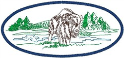 Bison embroidery design