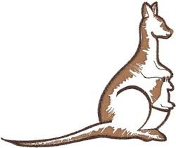 Kangaroo Mom embroidery design
