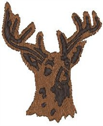 Buck Head embroidery design