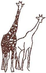 Peeking Giraffes embroidery design