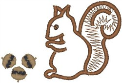 Nutty Squirrel embroidery design
