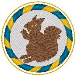 Squirrel Patch embroidery design