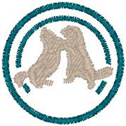 Squirrels Fighting embroidery design
