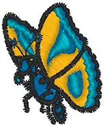 Moth embroidery design