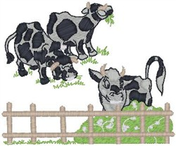 Cows Pasture embroidery design