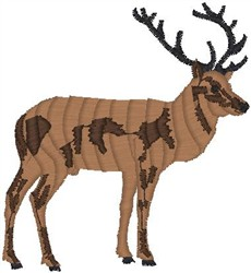 Spotted Elk embroidery design