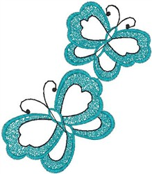 Butterfly Pair embroidery design