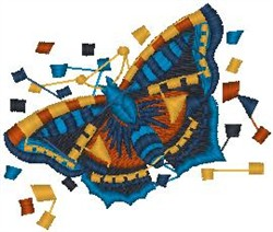 Artistic Butterfly embroidery design
