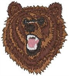 Bear Head embroidery design