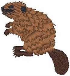 Nice Beaver embroidery design