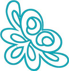 Corner embroidery design