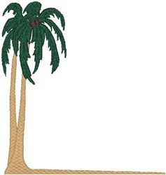 Palm Tree Corner embroidery design