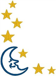 Moon and Stars Border embroidery design