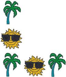 Sunglasses border embroidery design