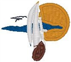 Boat Scene embroidery design