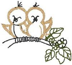 Birds on a Limb embroidery design