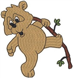 Teddy with Stick embroidery design