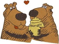 Honey Bears embroidery design