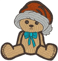 Teddy Bear with Hat embroidery design
