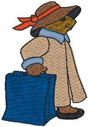 Travel Bear embroidery design