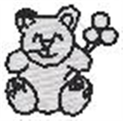 Teddy Bear Silhouette embroidery design