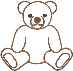 Teddy Bear Outline embroidery design