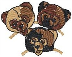 Bear Heads embroidery design