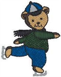 Teddy Skating embroidery design