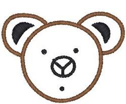 Bear Head Outline embroidery design
