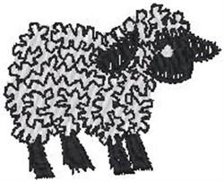 Blackface Sheep embroidery design