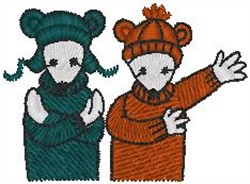 Bundled Up Mice embroidery design