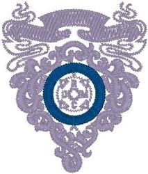 Lavender Scroll embroidery design